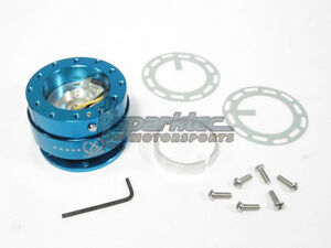 Nrg Steering Wheel Quick Release Kit Generation 2 0 Blue Body W Blue Ring New