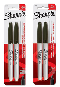 Sharpie Black Fine Point Permanent Markers Includes 4 Markers