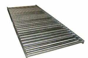 Zinc Plated Pallet Conveyor With Rollers Set Low Pconv 52 5 Length 5 Ft Oa W