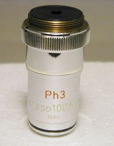 Zeiss Planapo 100x Phase contrast Microscope Objective 160mm Excellent Conditi