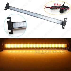 1 Car Windshield 80led Strobe Flashing Turn Signal Warning Light Bar Amber White