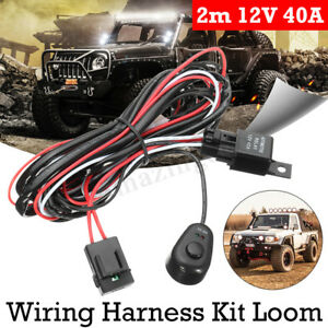 12v Auto Led Daytime Running Light Drl Relay Harness Control On Off Switch Kits