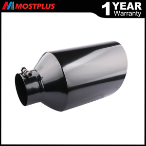 Black Stainless Steel Bolt on Diesel Exhaust Tip 4 Inlet 8 Outlet 15 Long