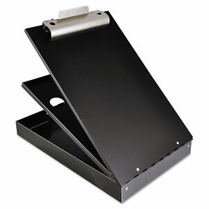 Cruiser Mate Aluminum Storage Clipboard 1 Capacity Holds 8 1 2 X 12 Black
