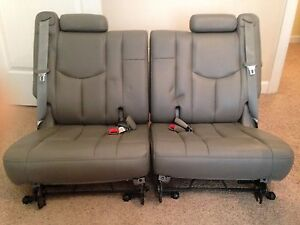 2006 Tahoe Yukon Suburban Gray Leather Third 3rd Row Seats