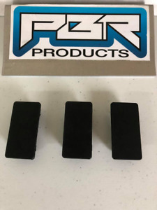 Lot Of 3 Pbr Products Rectangular Rocker Switch Blank Snap In Hole Plug Cover