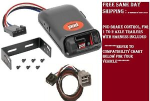 80500 Pro Series Brake Control With Wiring Harness 3021 For 2010 2012 Dodge Ram