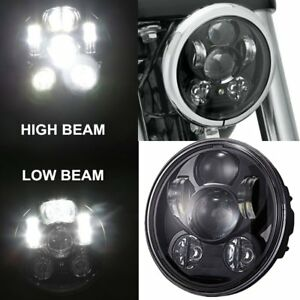 Motorcycle 5 3 4 5 75 Hi lo Lamp Daymaker Projector Led Headlight For Harley M