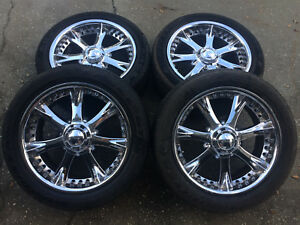 Rims 20 And Tires 27 5 P275 45r20 Goodyear Eagle Gt Ii Used Good Condition