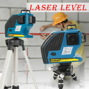 12 Line 3d Green Laser Level Self leveling 360 Degree Laser Beam Line 360 New