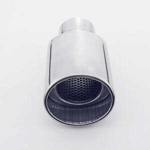 2 5 Inlet Oval Slant Cut Resonated Exhaust Tip For Subaru Forester 2008 2012