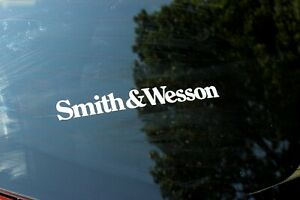 Smith And Wesson Gun Hunting Truck 8 Multi Color Vinyl Decal Sticker Pair