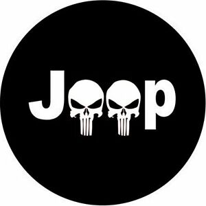 Jeep Punisher Skull Logo 32 33 Spare Tire Cover Jeep Wrangler Tire Tj Jk New