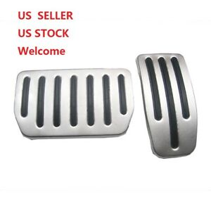 1 Pairs Aluminum Non Slip Performance Foot Pedal Pads For Tesla Model S Model X