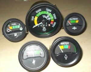 Mf Massey Ferguson 265 285 Tractor Tachometer Gauges Kit Temp oil fuel amp