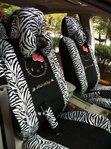 Universal Hello Kitty Car Seat Front Rear Cover Accessory Set 10 Pcs