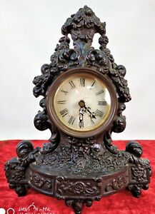 Clock Cast Iron Painted Sphere Without Machinery Europe Xix Century