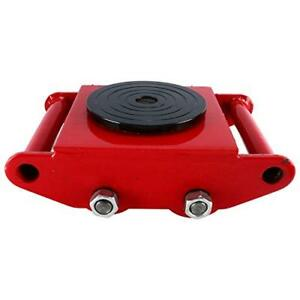 Machinery Skate Dolly With 4 Rollers Cap 360 Degree Rotation13200 Lbs 6 Tons red