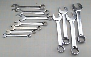 Snap On 3 8 1 Oexs715k 11pc Sae Short Combination Wrench Set Missing Wrenches