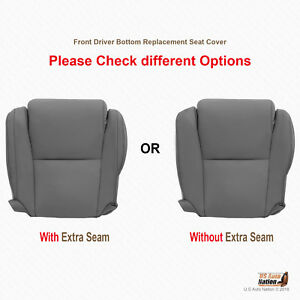 Driver Bottom Replacement Seat Cover gray Leather For 2009 2010 Toyota Tundra
