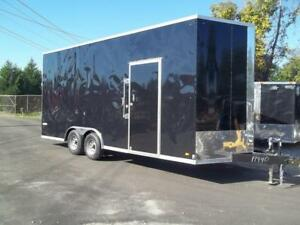 8 5 X 20 Extra Tall Enclosed Carhauler Trailer Black Stacker Look Cargo 8 X 20