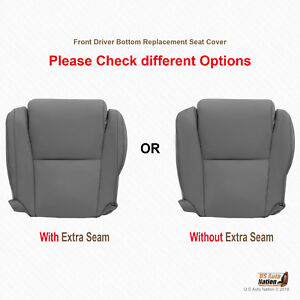 For 2007 2013 Toyota Sequoia Driver Bottom Gray Leather Replacement Seat Cover