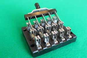 Rare Antique Western Union Double throw Five pole Knife Switch Hart