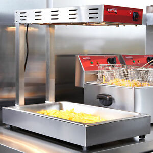 1000w Free Standing Countertop Infrared French Fry Warmer dump Station
