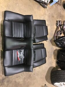 Oem Ford Mustang Gt Coupe Leather Rear Seat Black 2006 2007 20008 Set