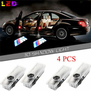 4x Led Door Courtesy Welcome Light M Logo Ghost Shadow Laser Projector For Bmw