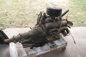 Orignal 1957 Chevy Chevrolet 283 Engine Cast Iron Powerglidetrans Will Ship