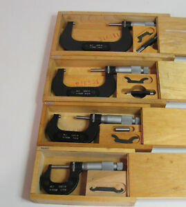 Lot Of 4 Kl1 Micrometers 0 4 Inches Made In Poland Free Shipping