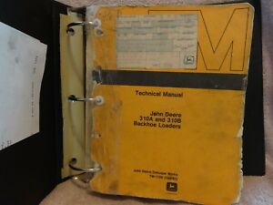 John Deere 310a And 310b Backhoe Loader Technical Manual