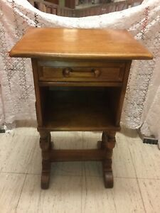 Solid Maple Vintage Night Stand End Table