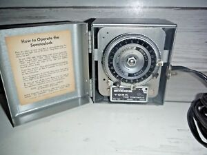 Vintage Tork Time Timer Control Box Somnoclock Phonograph Recorder