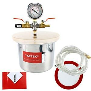 3 Quart Stainless Steel Vacuum Chamber Silicone Kit For Degassing Resins Silico