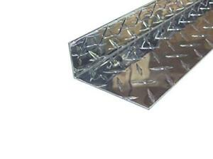 Aluminum Diamond Plate Angle 062 X 1 5 X 3 5 X 48 In Inside Reverse 3003 2pcs