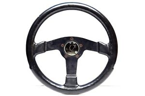 Vintage Made In Italy Momo Nardi Luisi Leather Steering Wheel With Mystery Hub