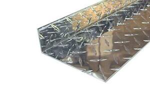 Aluminum Diamond Plate Angle 062 X 1 5 X 4 5 X 48 In Inside Reverse 3003 2pcs