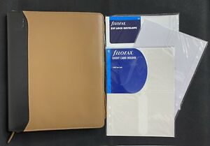 Filofax A5 Nappa Zip Around Leather Planner Organizer With Extras