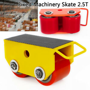 2 5t Fixed Steel Skate Strong Rigid Pu 2 roller Machinery Mover Transport 2color