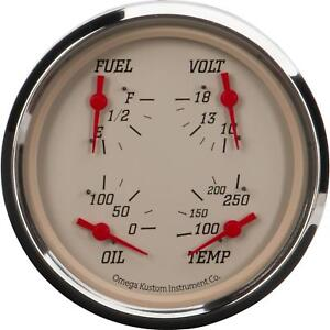 5 4 In 1 Gauge With Fuel Oil Temp And Volt Beige