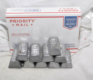11 Lbs. Lead Ingots for Casting Molding Jigs Sinkers Bullets FREE SHIPPING