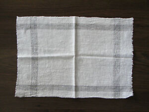 Antique Vintage Homespun Towel Hand Woven Weave Cotton Fabric Tissue Early 20th