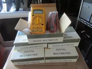 Lot Of 7 Mastech Mas830 Digital Multimeters