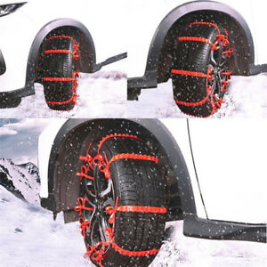 Anti Skid Tire Chains For Car Sedan Suv Snow Winter Emergency Driving 2019 Hot