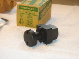 greenlee Hydraulic Square Metal Knockout Punch 5 8 Brand New