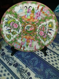 Antique China Chinese Famille Rose Medallion 9 1 2 Inch Plate Dish