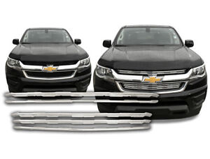 2015 2018 Chevy Colorado Chrome Snap On Grille Overlays 5 Front Grill Bar Covers