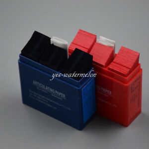 300 Sheets Articulating Paper Dental Lab Products Teeth Care Strips Blue red
